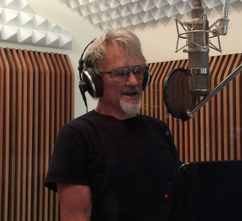 Kris recording a song for the Texas Rising Series on the  History Channel
