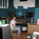 Me at Bruces studio mixing