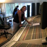 Bob mixing on the 9000j SSL at class July 2010