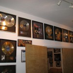 Some of Bruces gold and platinum albums