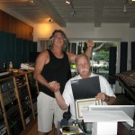 Getting my certificate from Bruce for July 2010 class